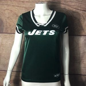 New York Jets Top Size Medium Green Lace Up Front